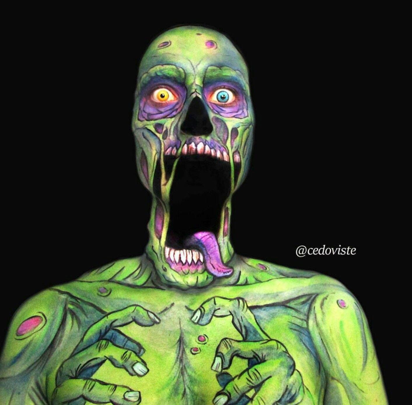 Shocked zombie makeup make up pinterest zombie makeup makeup