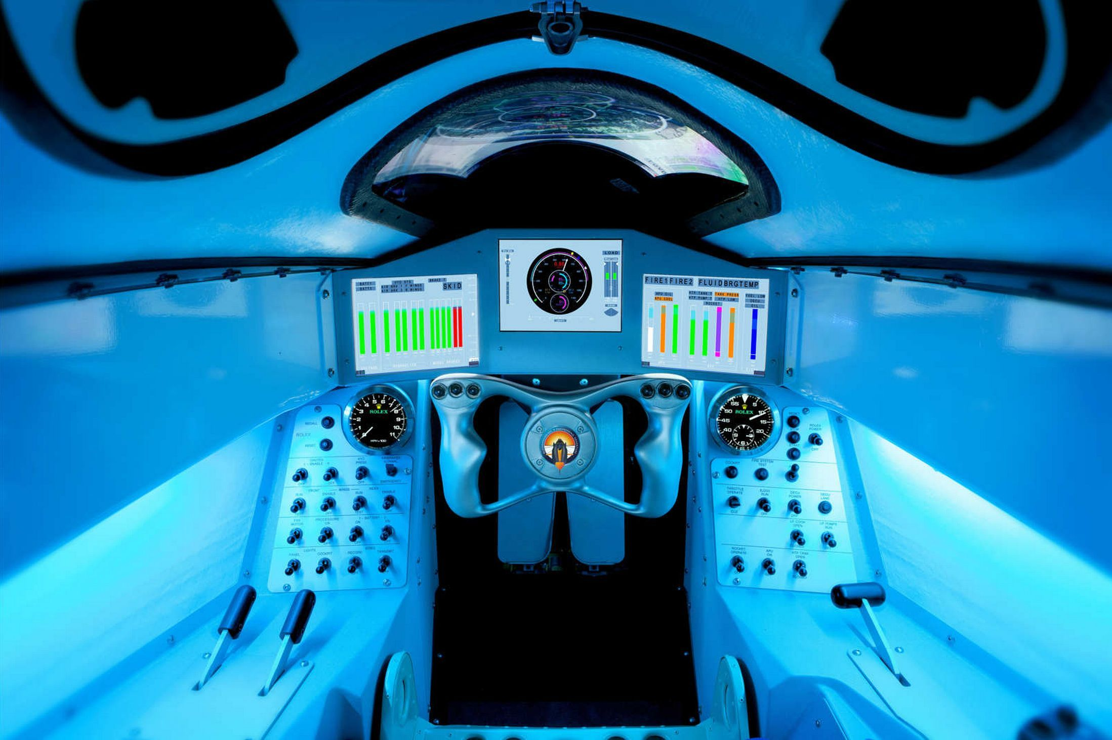 This Is The Cockpit Of The Supersonic Car That Will Reach 1000mph Cockpit Bloodhound Car In The World
