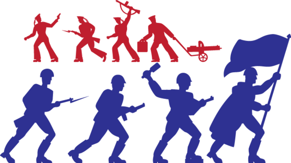 529 Toy Soldiers Silhouettes