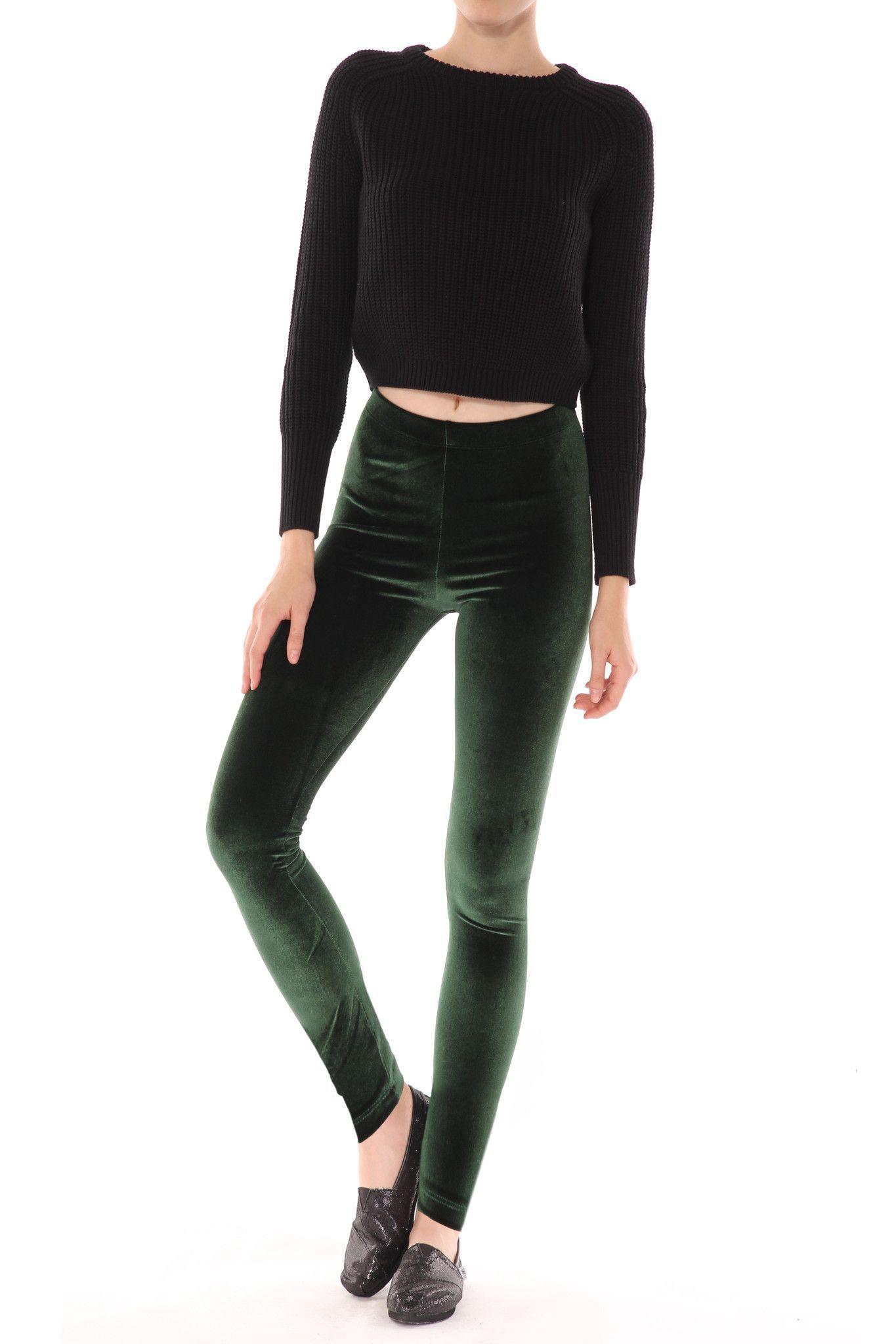 37c9677926431 $50 M Green Velvet Leggings from POPRAGEOUS | nylons 4 sale | Velvet ...