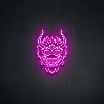 'Dragon Head' Neon Sign