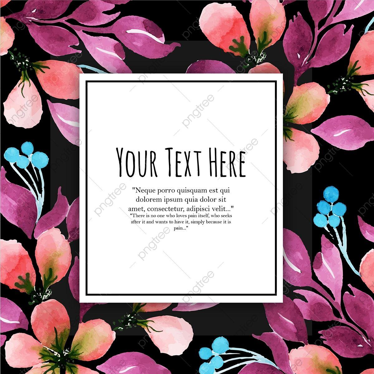 Gambar Hari Jadi Cat Air Bunga Kad Jemputan Serbaguna Latar Belakang Untuk Ulang Tahun Dan Lain Lain Perayaan Pernikahan Ulang Tahun Latar Belakang Latar Bel Watercolor Floral Invitation Floral Invitation Invitation