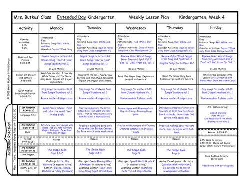 Kindergarten Lesson Plans Week  Pete The Cat Week
