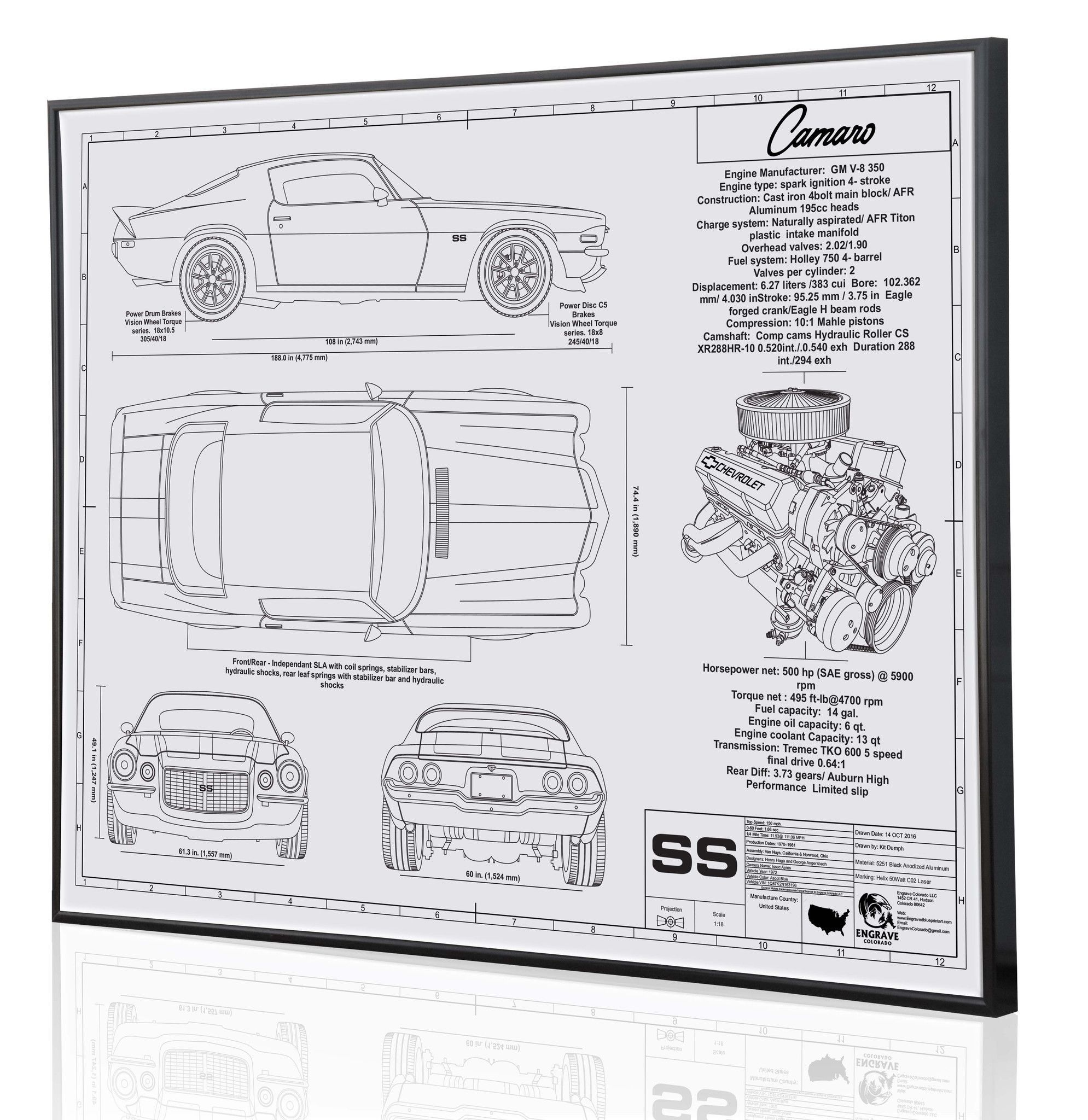 The second generation camaro shown here is a custom blueprint the second generation camaro shown here is a custom blueprint piece draw from customer photos of malvernweather