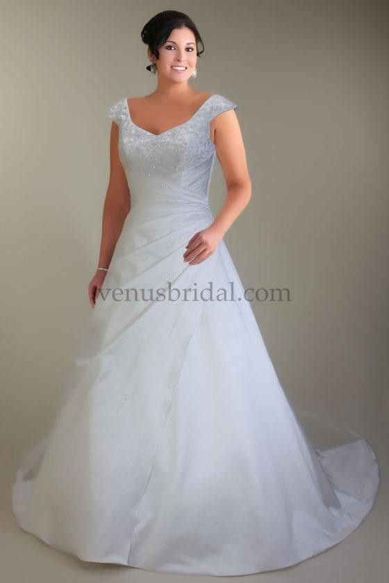 wedding dresses for big busted women | Venus Women Wedding Dresses - Style VW8670