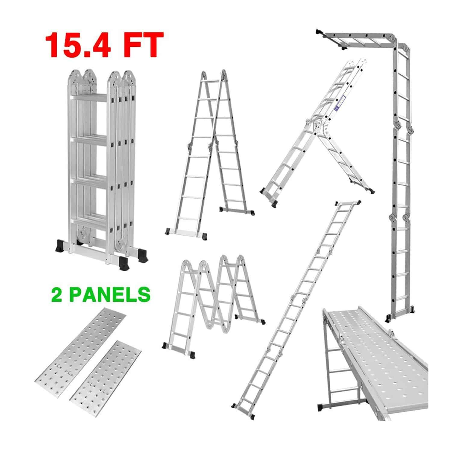 Aluminum Telescoping Ladder Telescopic Extension Ladder Multi Purpose Ladder Folding Ladder Locking Hinge