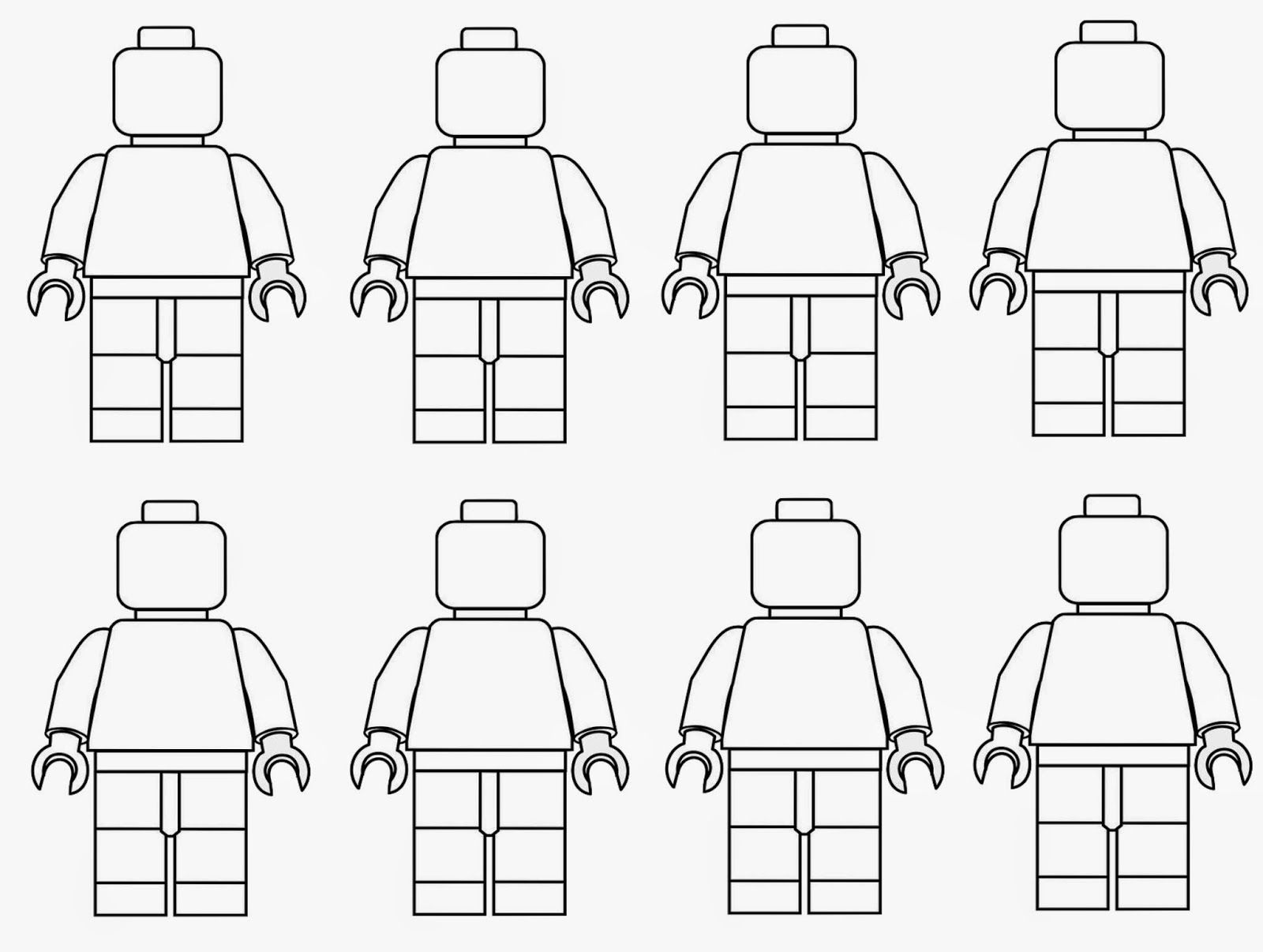 Spring Time Treats: Lego men coloring page  Lego coloring pages