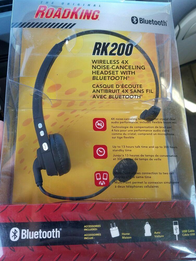 091a94f77d1 Bluetooth Headset Rk200 Trucker Drivers OTR Noise-Cancelling Wireless Boom  Mic #RoadKing
