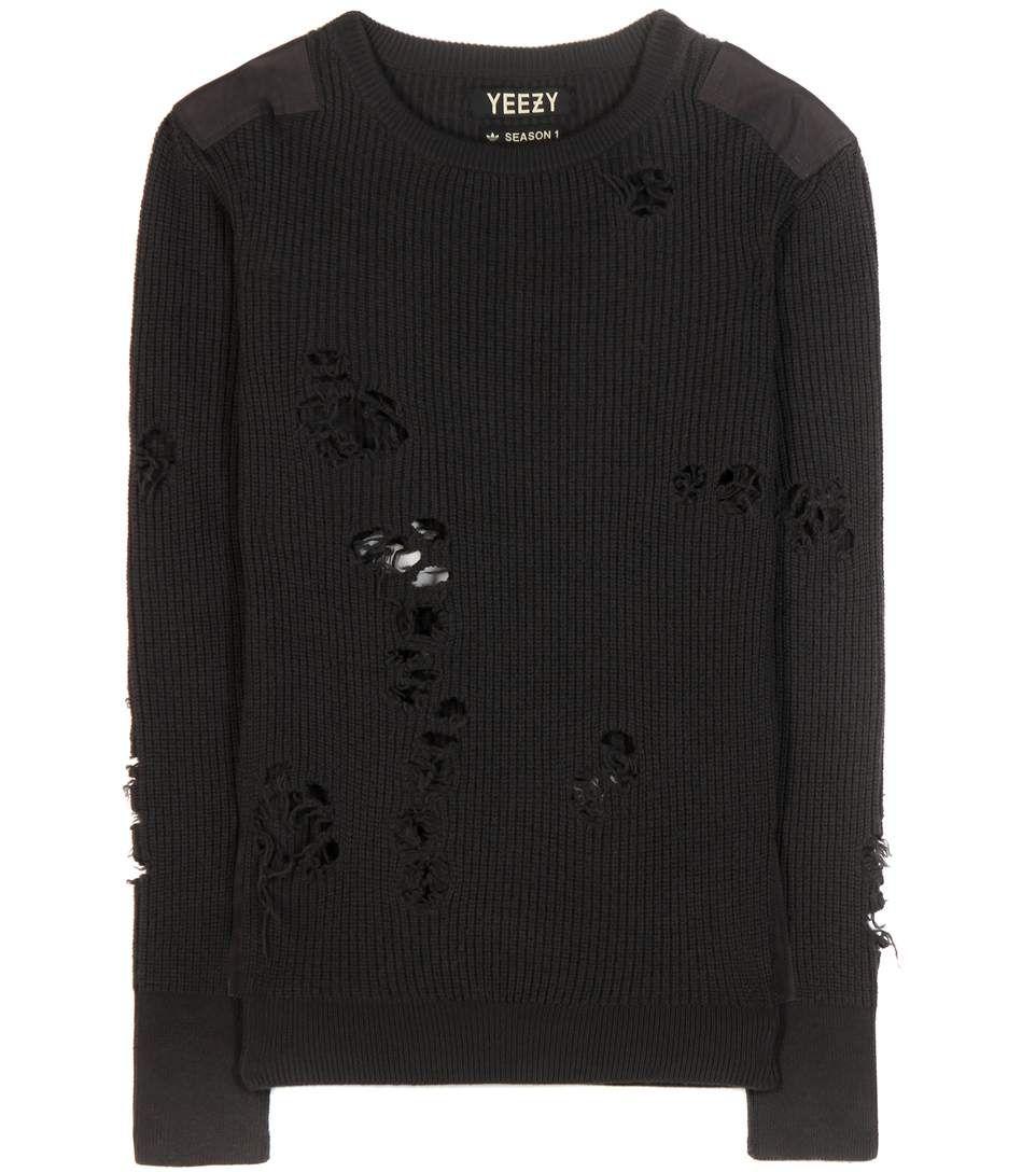 mytheresa.com - Destroyed wool sweater (Season 1) - Luxury Fashion for Women / Designer clothing, shoes, bags