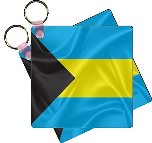 Rikki Knight Bahamas Flag Design Square Key Chains  Luggage Identifier Tags Set of 6 -- Learn more by visiting the image link.Note:It is affiliate link to Amazon.