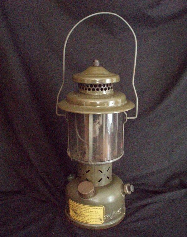 1952 Coleman military gas lantern and key Korean War | Luv