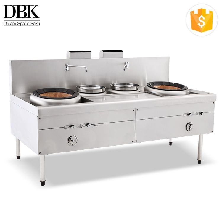 Factory Commercial Stainless Steel Chinese Cooking Gas Stove