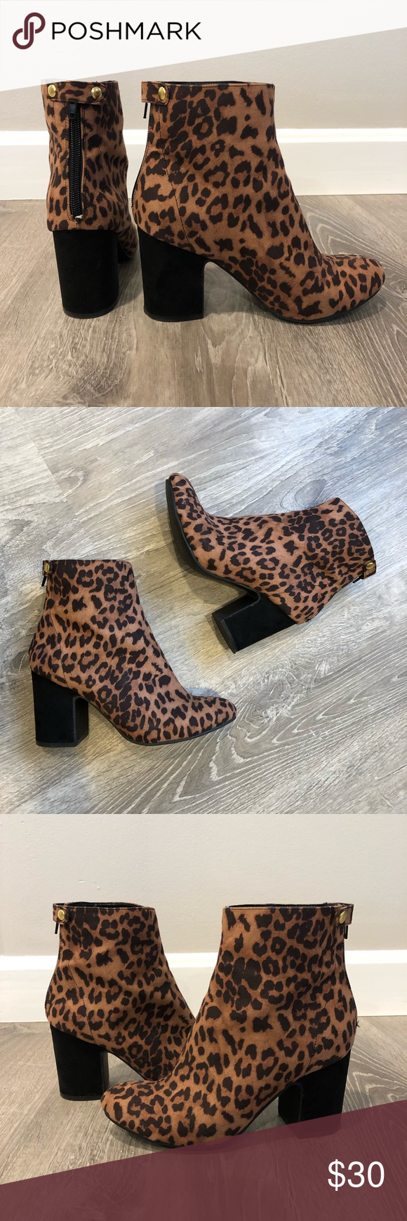 leopard print ankle boots new look