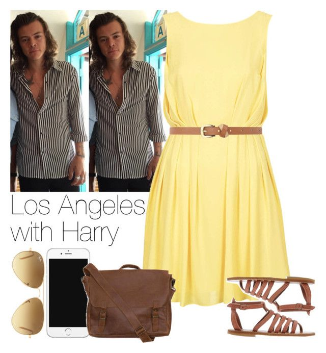 """""""Los Angeles with Harry"""" by lottieaf ❤ liked on Polyvore featuring claire's, Topshop, K. Jacques, Dorothy Perkins, Ray-Ban, Emili, women's clothing, women, female and woman"""