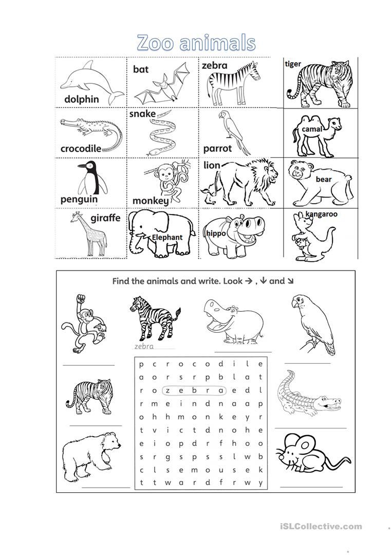 Zoo Animals Games Esl