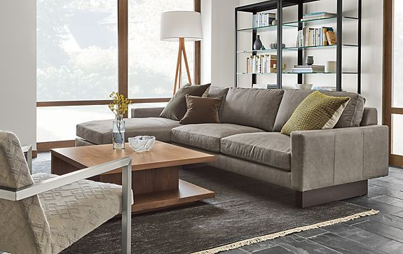 Exceptionnel Hess Sofa With Chaise In Annata Grey   Modern Living Room Furniture   Room  U0026 Board