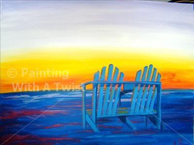 Beach Chairs At Sunset 35