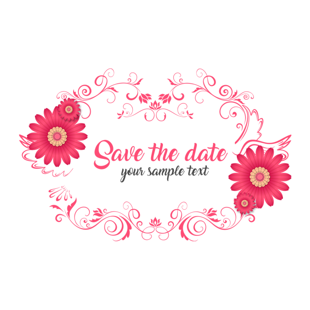 Save The Date Wedding Floral Ornament Mothers Day Clipart Typeface Font Design Png Transparent Clipart Image And Psd File For Free Download 핑크 장미 꽃 결혼식 꽃 결혼식 꽃 장식