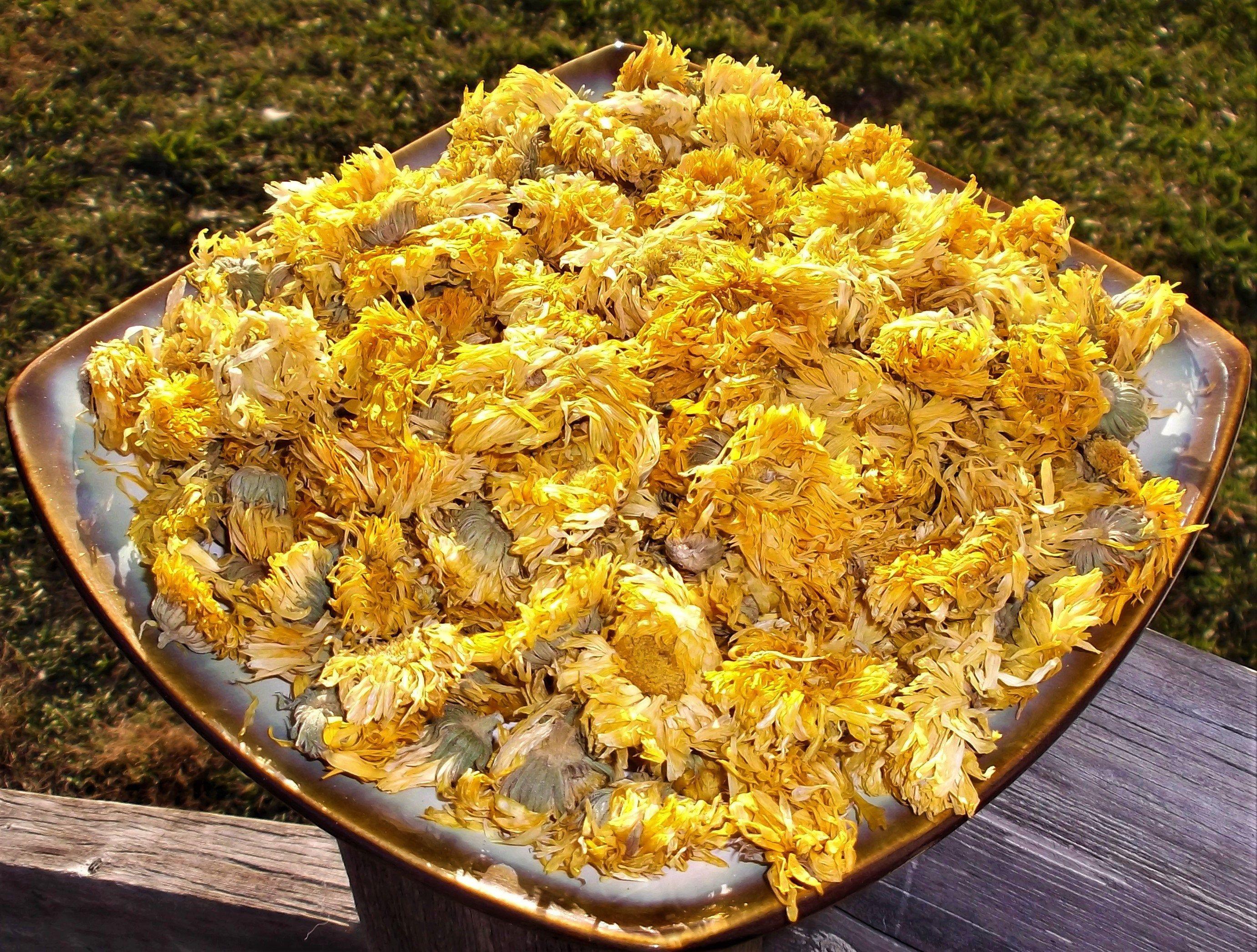 Organic Calendula Flowers Calendula officinalis Dried