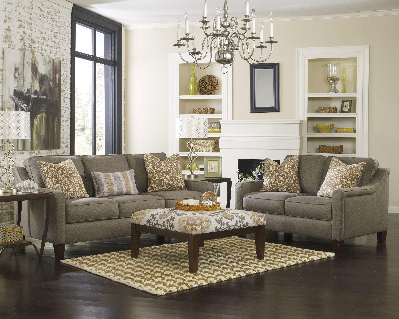 Ashley furniture 89301 mena graphite sofas sectionals for Ashley furniture living room sets