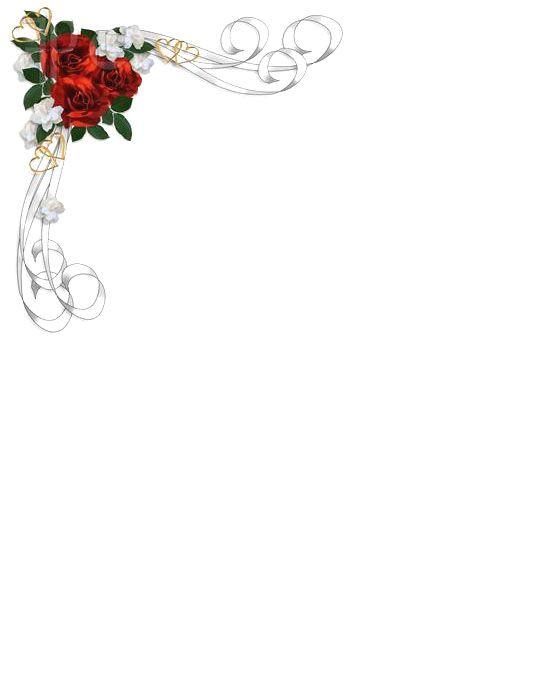 Bordes de flores para paginas imagui invitaciones for Cenefas para dibujar