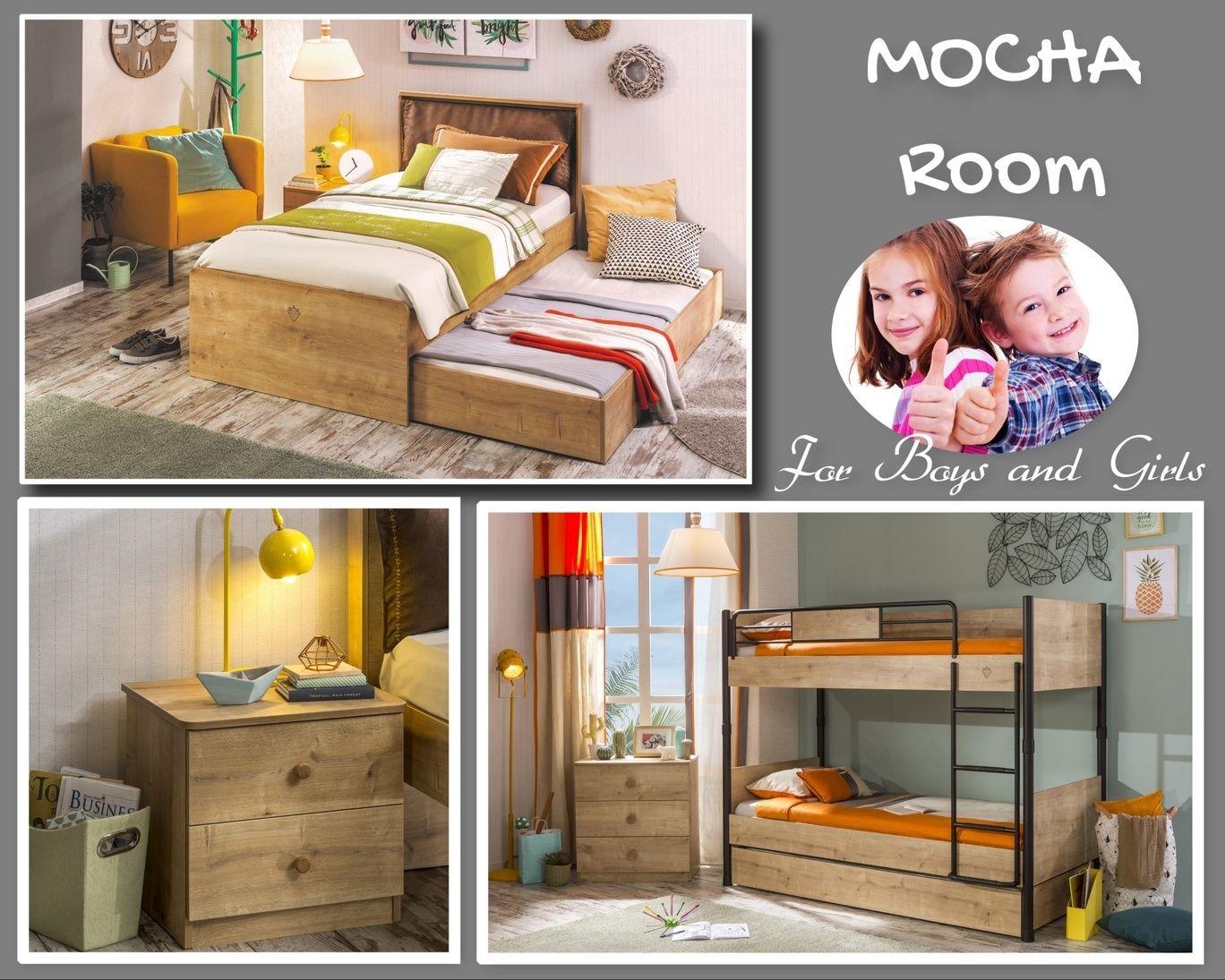 Παιδικό δωμάτιο MOCHA H ολοκαίνουργια μοντέρνα σειρά σε γήινες αποχρώσεις  στο φυσικό χρώμα του ξύλου είναι fdba89bf63f