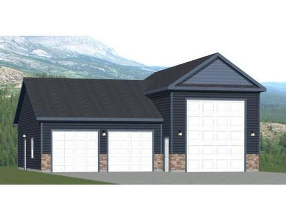 42x40 1 Rv 2 Car Garage Pdf Floor Plan 1537 Sq Ft Etsy In 2021 Rv Garage Plans Garage Floor Plans Garage Plans