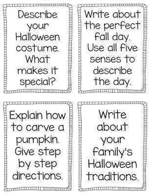 Pumpkin Palooza NO PREP printables for Fall Love these writing - halloween writing ideas