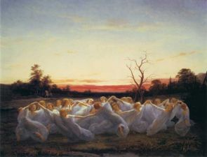Faeries - Encyclopedia Mythallica. An Elven gathering.