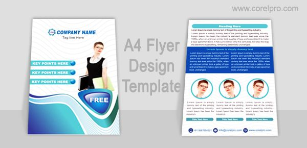 A4 Flyer Design Template for free Download in Corel Draw format ...