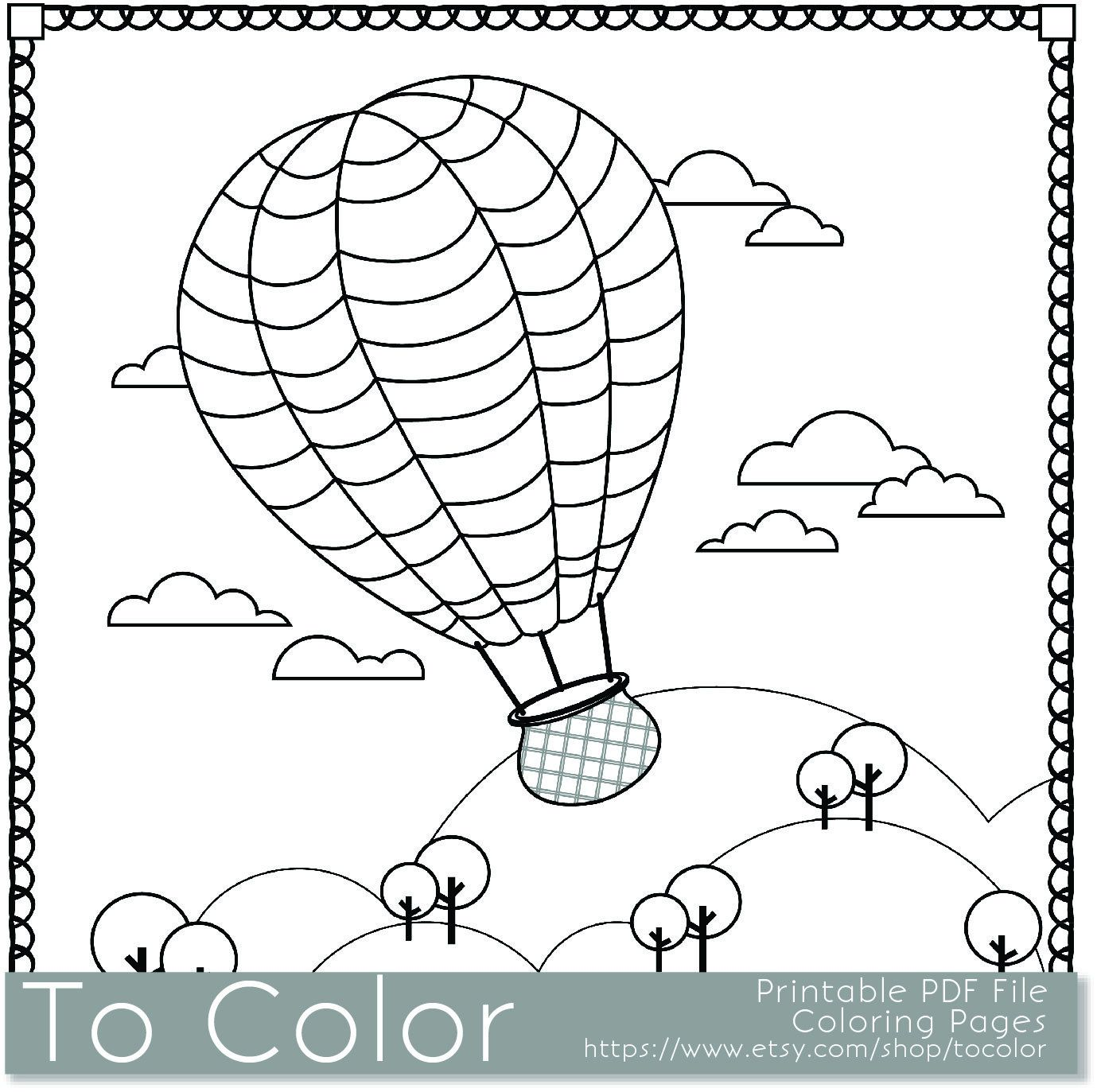 Inspirational Coloring Pages For Kids Pdf 94 Printable Hot Air Balloon