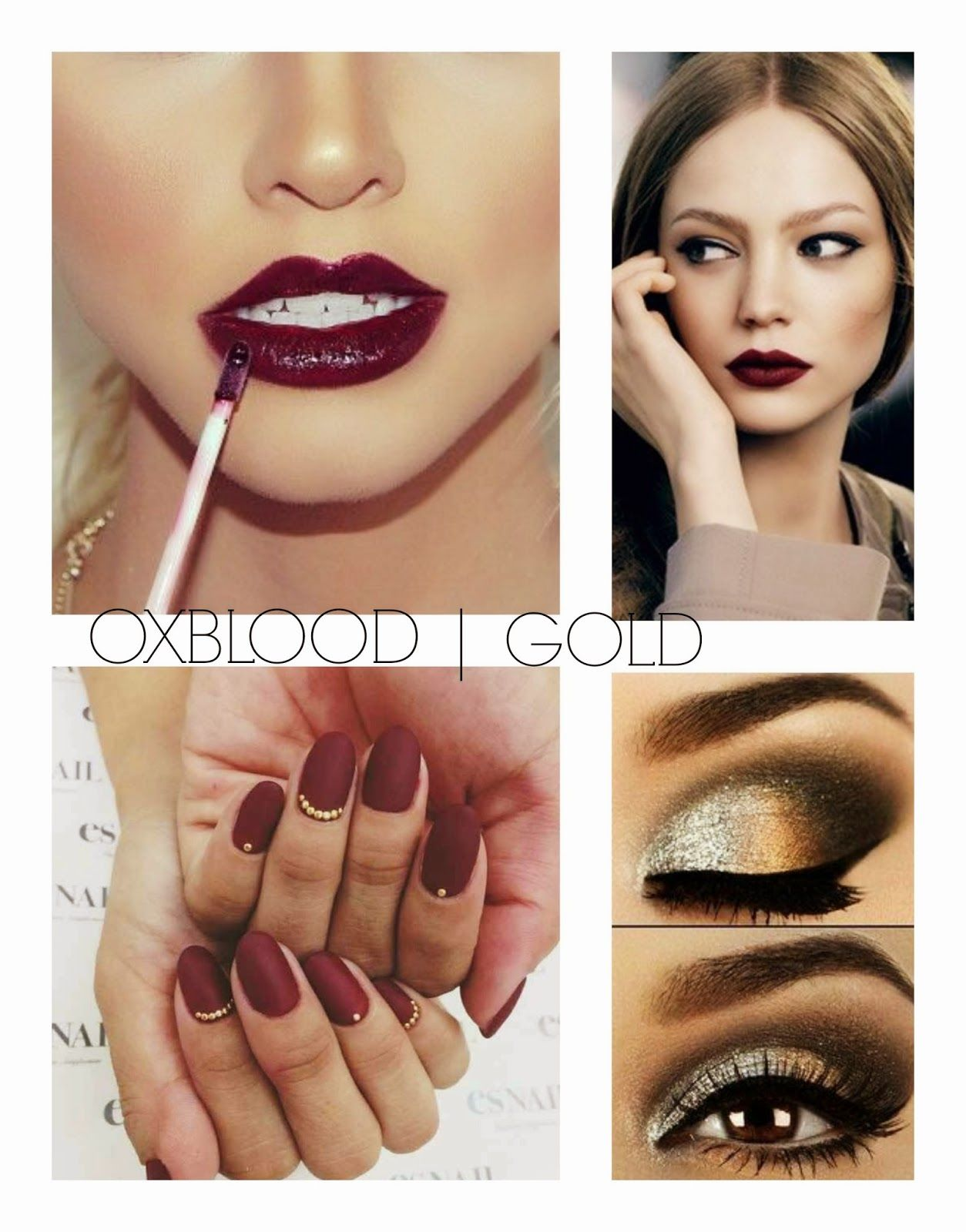 oxblood and gold