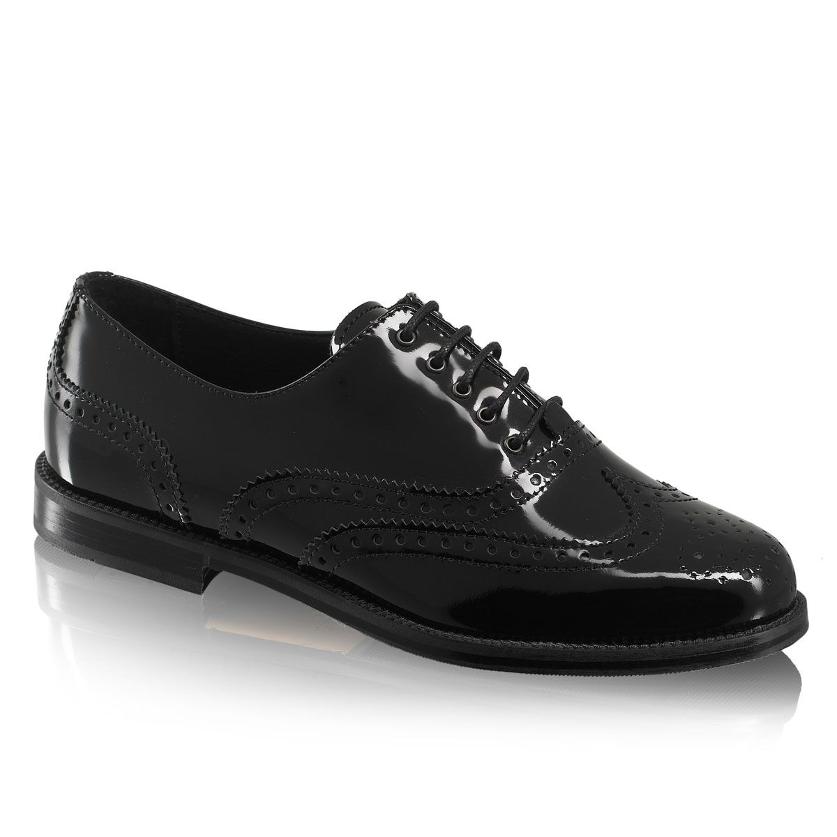Size 2 Suitable For Men And Women Of All Ages In All Seasons Clothing, Shoes & Accessories Kids' Clothing, Shoes & Accs Russell And Bromley Black Leather Patented Shoes