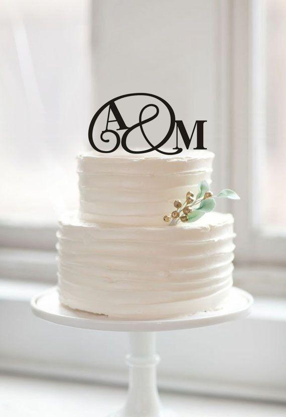 Monogram Paar Namen Kuchen Toper Erste Kuchen Topper