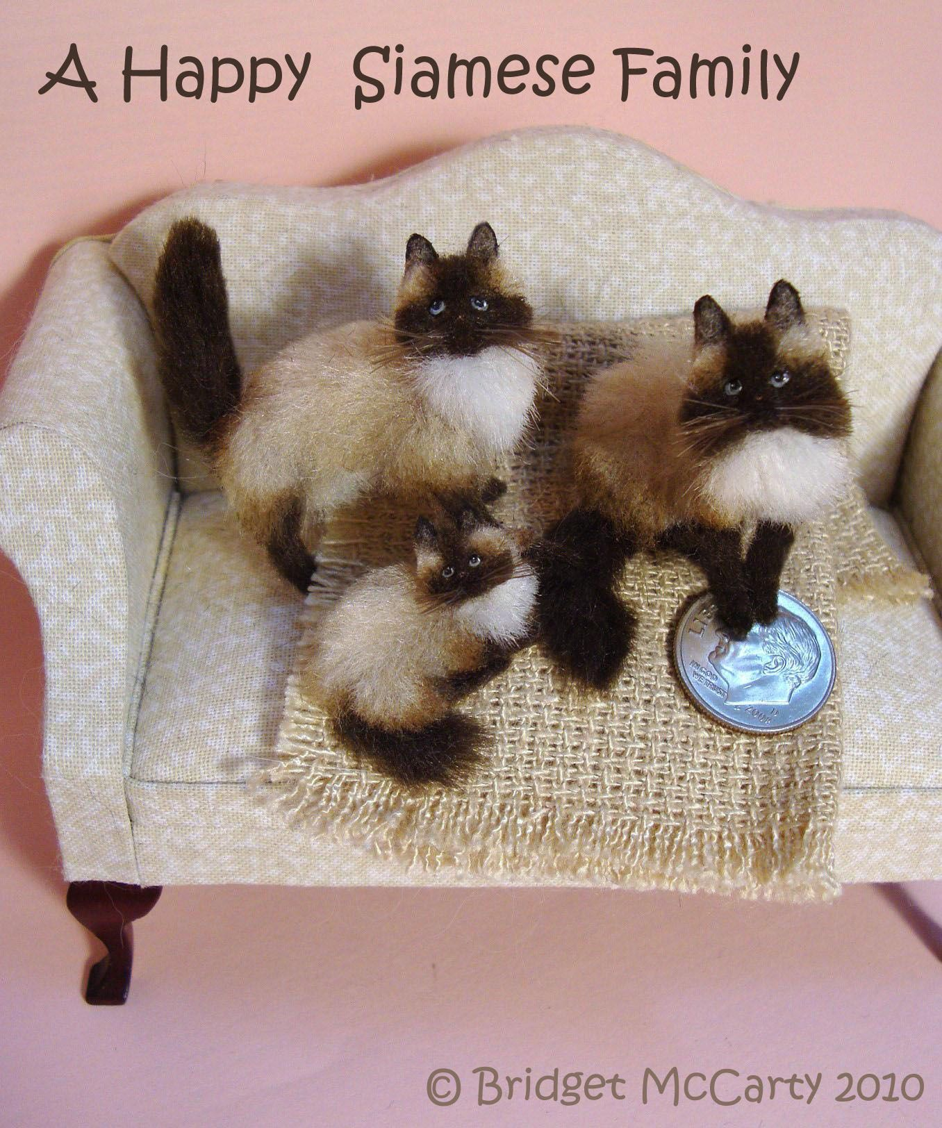 Dollhouses Miniature pets too cute httpbridgetmccartycomimages