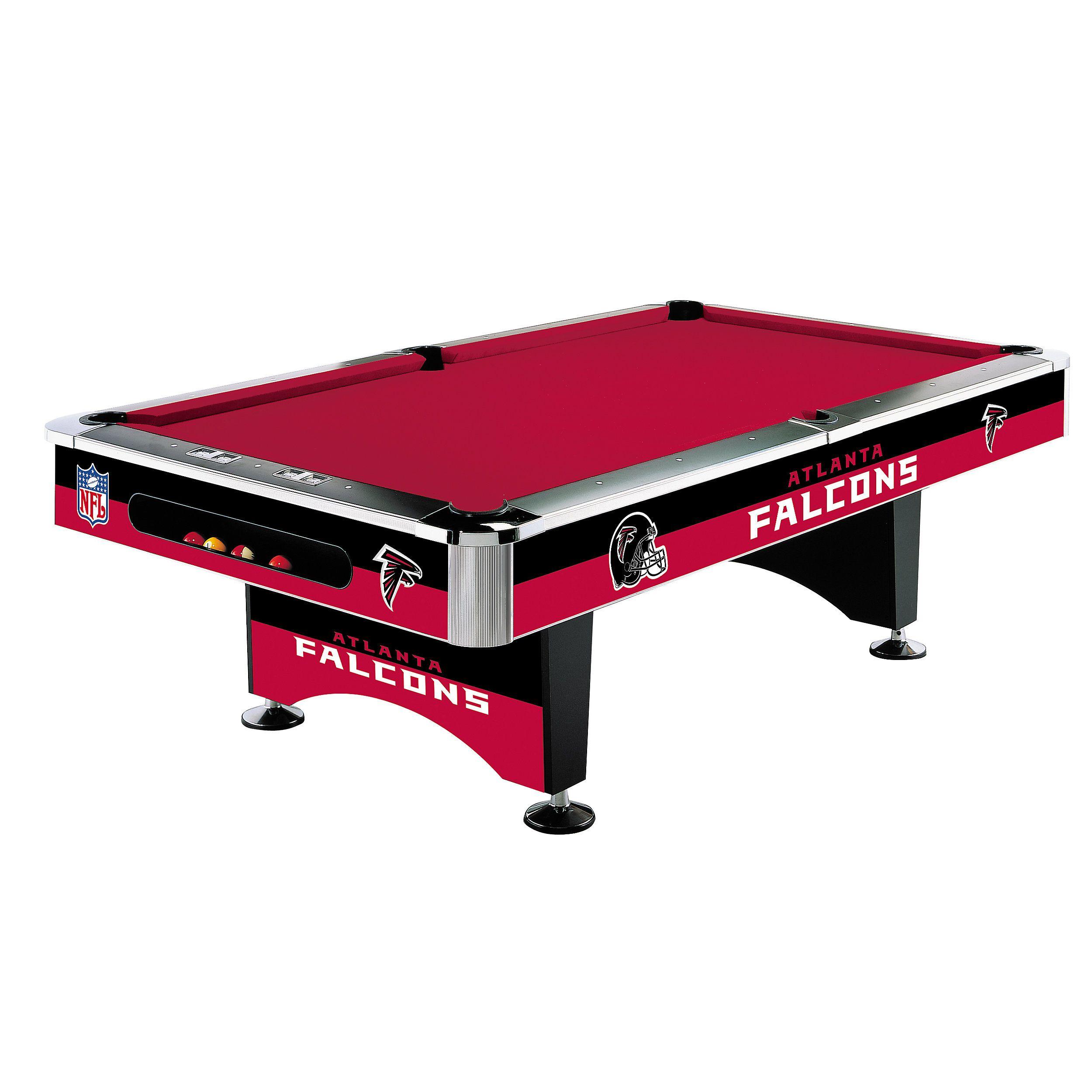 Atlanta Falcons Pool Table Pool table, Pool table games