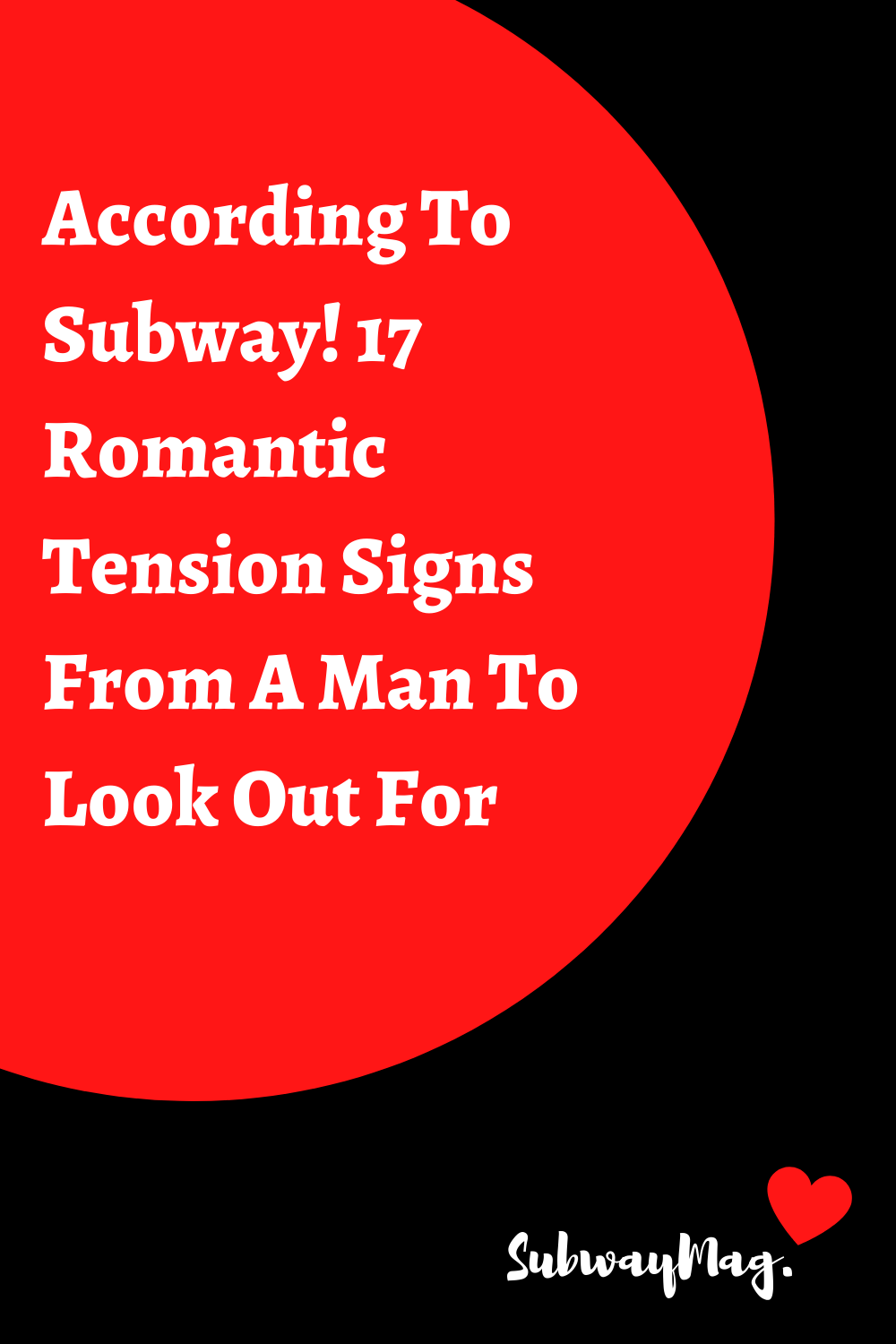 Signs of romantic tension