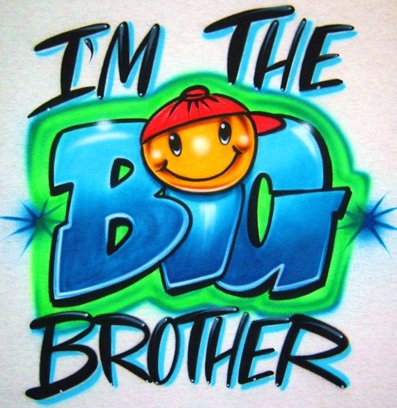 Airbrush T Shirt With I M The Big Brother Big By