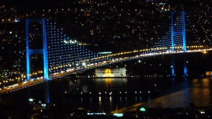 Bosphorus Bridge...Istanbul,feb .2013...amazing watching the differents colours of the bridge...