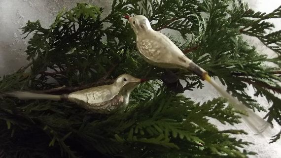 Bird clip on Christmas tree ornaments