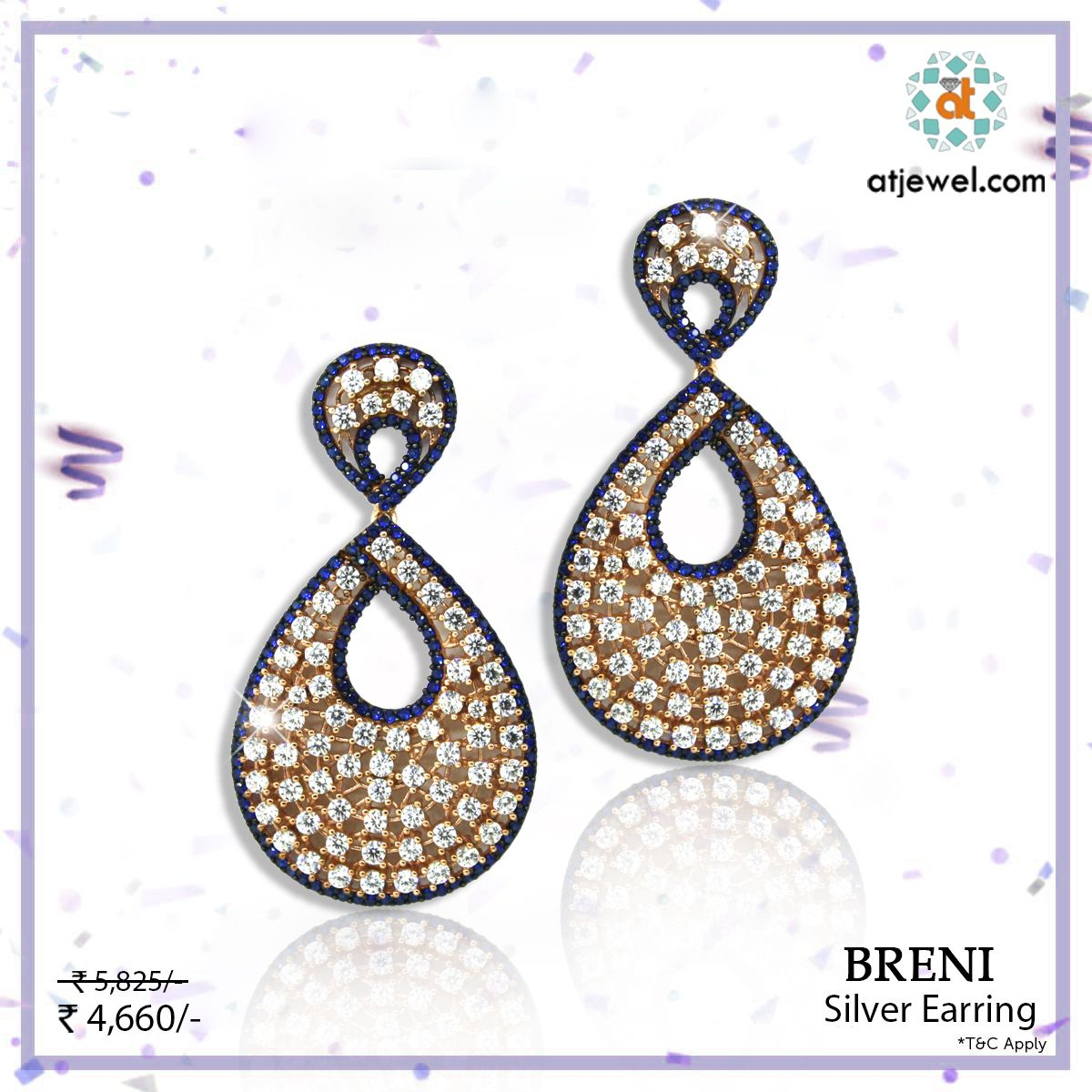 Design Of The Day..... ATJewel Presents a Beautiful Breni Silver Earrings at Best Prize.Shop Now #ATJewel #Silver #Gold #SilverJewellery #ValentinSpecial #BestOffer http://bit.ly/2kufDRZ