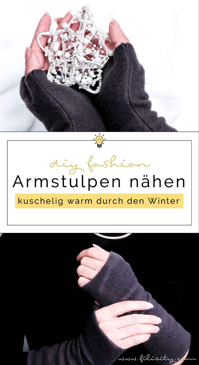 Armstulpen nähen (mit und ohne Daumen)   Filizity.com   DIY-Blog aus dem Rheinland