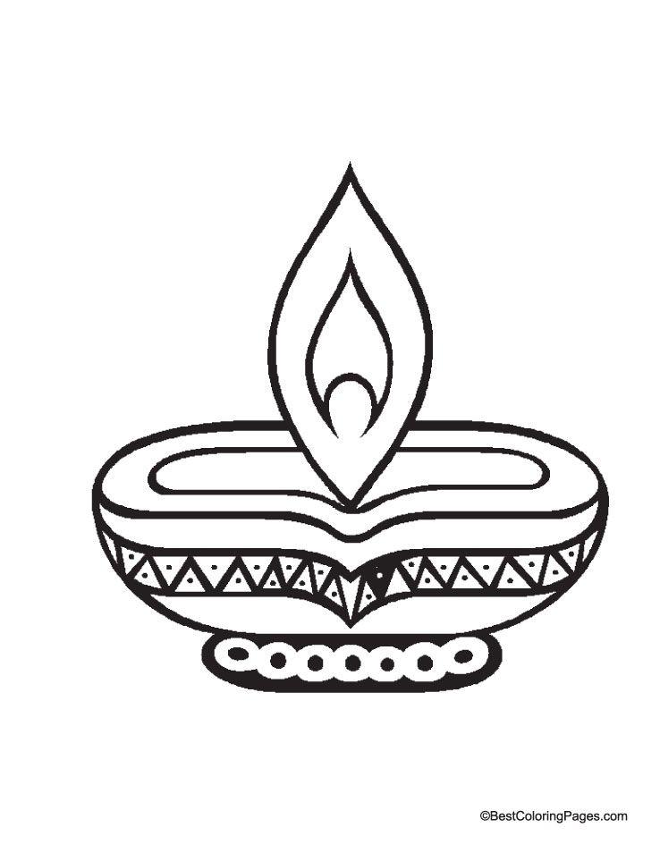 Diwali Diya Coloring Page Diwali Diya Diwali Colours Diwali
