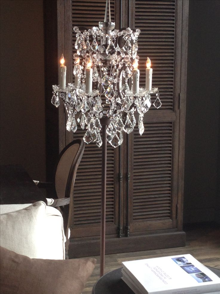 Chandelier floor lamp; I own this floor lamp and it is so