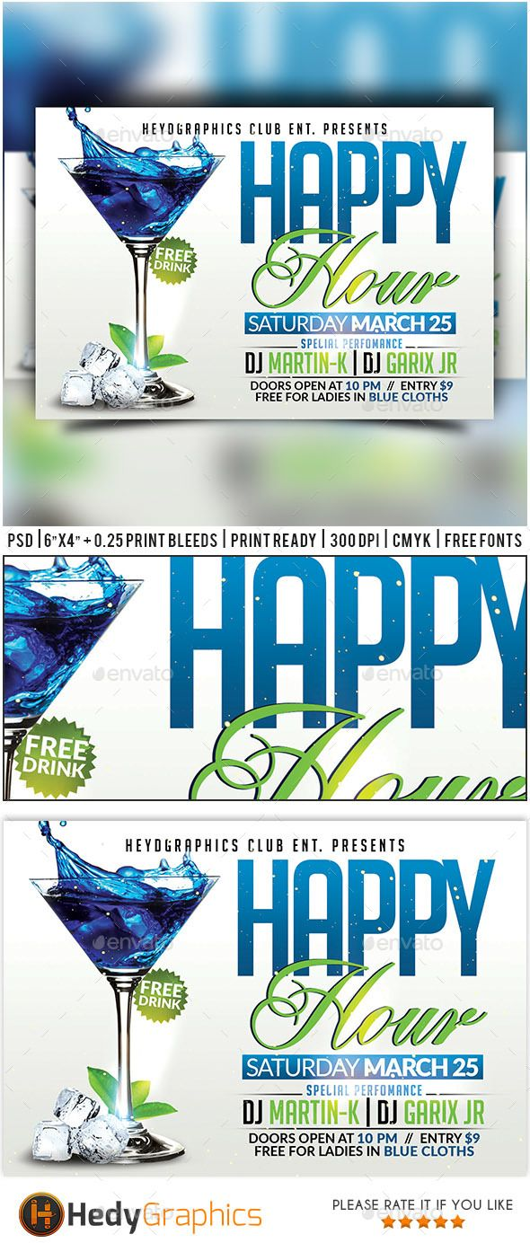 Happy Hour Flyer Templates Kubreforic
