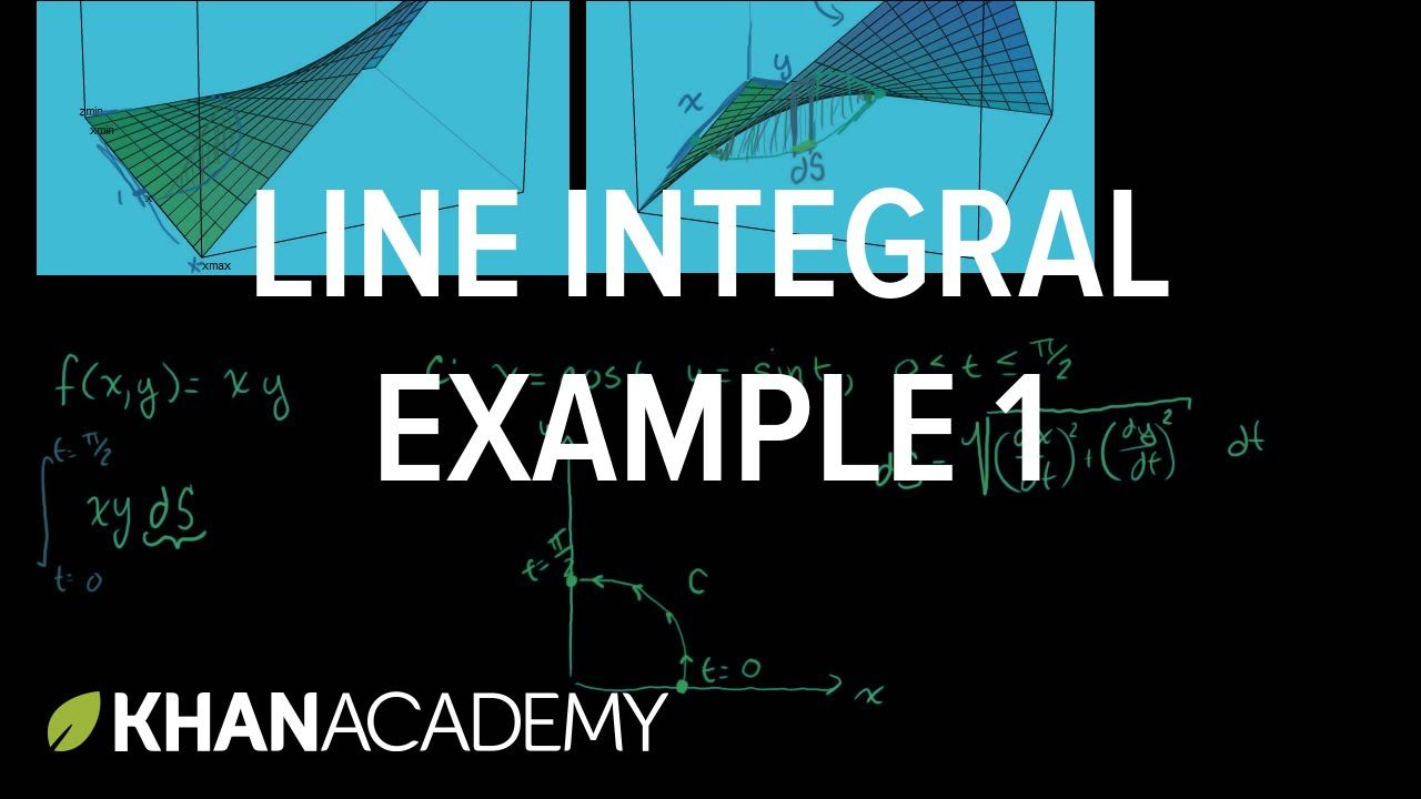 Line Integral Example 1 Line Integrals And Green S Theorem Multivari Line Integral Calculus Study Guide