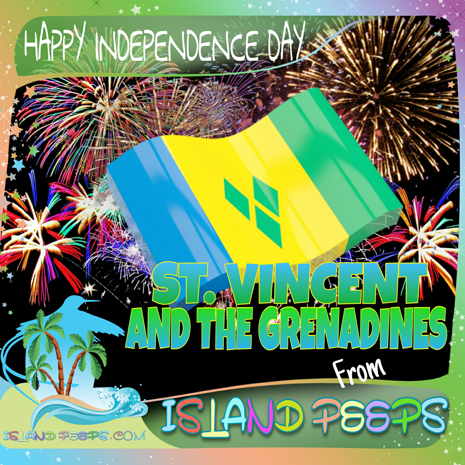 Happy Independence Day St  Vincent & The Grenadines