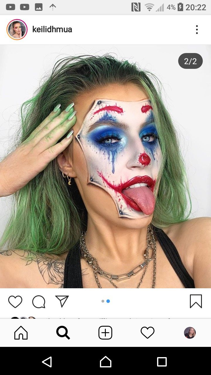 Kailidh mua Joker Halloween makeup pretty, Halloween