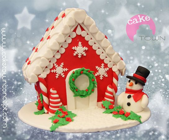 Christmas Gingerbread House Decorations.Gingerbread House Decorated With Fondant In 2019 Christmas
