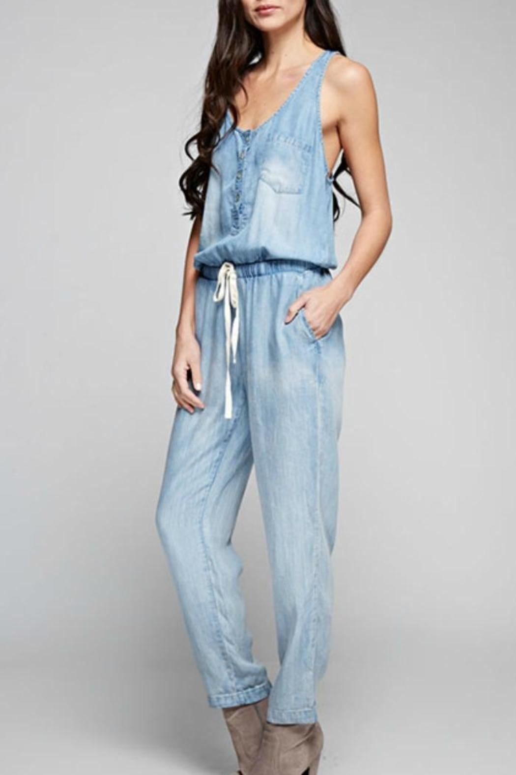 98a0f194e172 To style your own look roll the ankles and add some sandals for that  perfect summer look. Fun Denim Jumpsuit by Apricot Lane. Clothing -  Jumpsuits   Rompers ...